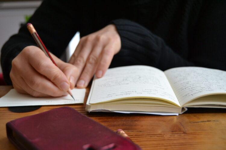 Tagebuch schreiben in der fastenkrise